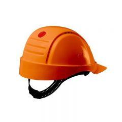 3M PELTOR Hard Hat Helmet G2000 with Uvicator Sensor, Pinlock, Ventilated, Orange, G2000CUV-OR
