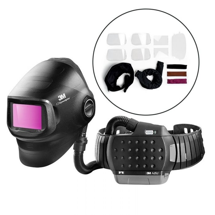 3M 617839 Speedglas G5-01 Adflo Welding Helmet with G5-01VC Filter and Consumable Starter Kit
